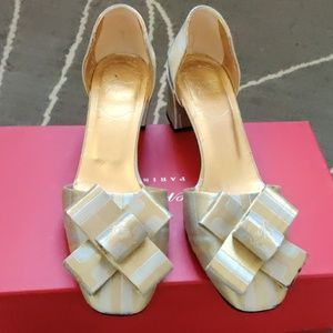Roger vivier champagne gold shoes